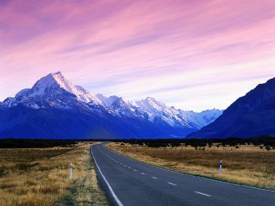 Early Morning of Mount Cook and Other High Peaks of Southern Alps, New Zealand