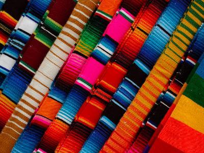Traditional Textiles for Sale in Zona Romantica, Mexico