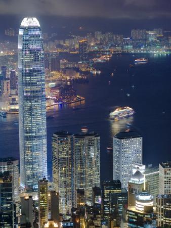 Hong Kong Harbour and Kowloon at Dusk