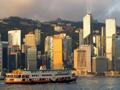 Passenger Ferry Crossing Hong Kong Harbour toward Central, Hong Kong, China