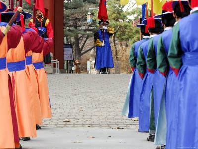 Changing of Guard Ceremony, Deoksegung, Seoul, South Korea