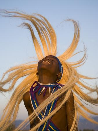 Intore Dancer Flicking His Hair, Rwanda