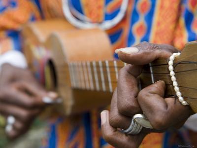Man Playing Caribbean Mandolin, Grand Etang National Park, St. George, Grenada