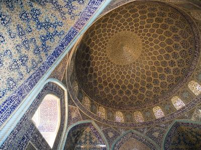 Mosaic Ceiling in Masjed-E Sheikh Lotfollah Mosque, Emam Khomeini Square, Esfahan, Iran