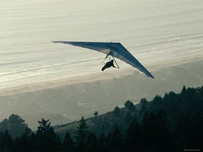Hang Gliding Below Bolinas Bridge in the Mt. Tamalpais State Park, California