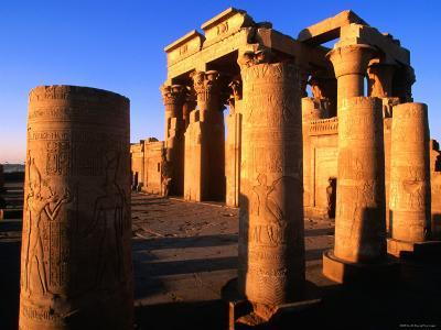 Hypostle Hall from Court at Temple Built in 1St Century Bc, Kom Ombo, Egypt