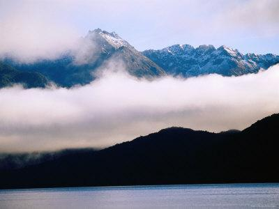 Lake Manapouri and Mountains, Manapouri, New Zealand