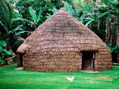 Traditional Kanak House, Lifou Island, Loyalty Islands, New Caledonia