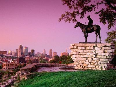 Scout Sculpture at Penn Park, Kansas City, Missouri