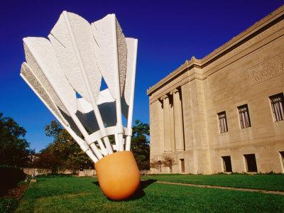 Giant Shuttlecock Sculpture at Nelson-Atkins Museum of Art, Kansas City, Missouri