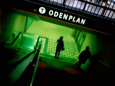 Passengers Entering Odenplan Metro Train Station, Stockholm, Sweden