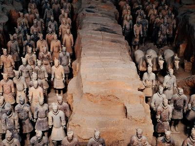 Life Size Terracotta Soldiers in Battle Formation, Xi'an, Shaanxi, China