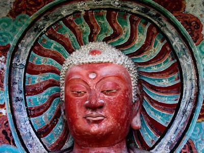 Buddha Statue in Cave No 5, Haystack Mountain Grottoes, Maiji Shan, Gansu, China