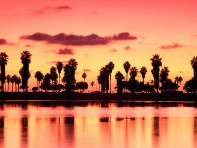 Mission Bay at Sunset, San Diego, California