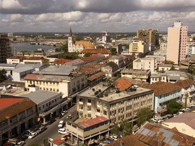 Cityscape Showing Harbour and Lutheran Church, Dar Es Salaam, Tanzania