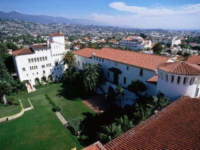 Santa Barbara County Courthouse Seen from Tower, Santa Barbara, California