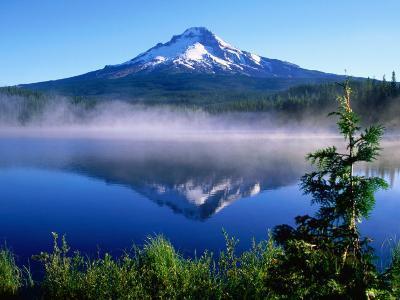 Trilium Lake with Mt. Hood in Background, Mt. Hood, Oregon