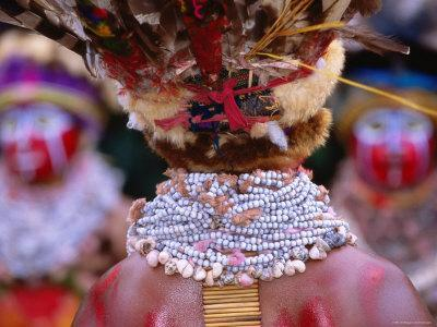 Detail of Sing Sing Jewellery and Headdress, Mt. Hagen Cultural Show, Papua New Guinea
