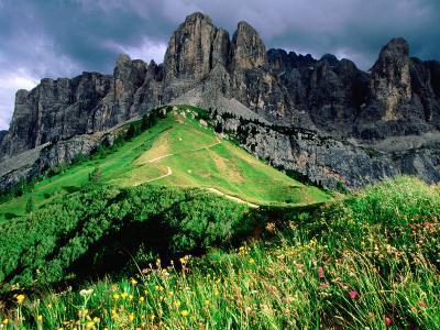Sella Massif, Passo Gardena, Dolomites, Dolomiti di Sesto Natural Park, Trentino-Alto-Adige, Italy