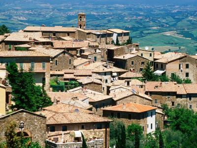 Hilltop Village of Montalcino Perched Above Val d'Orcia, Tuscany, Italy