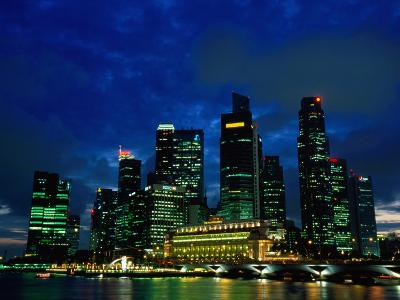 City Skyline from Marina Promenade, Singapore