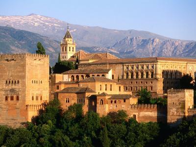 Alhambra from Albaicin, Granada, Andalucia, Spain