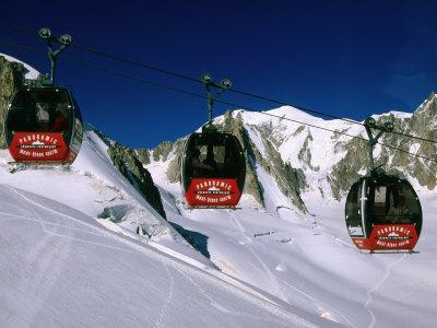 Valle Blanche Aerial Tramway Cabins, Rhone-Alpes, France