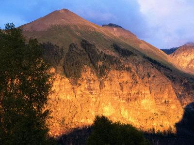 Late Afternoon Light on Ajax Mountain, Telluride, Colorado