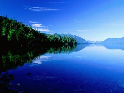 Reflections in Lake Mcdonald, Glacier National Park, Montana