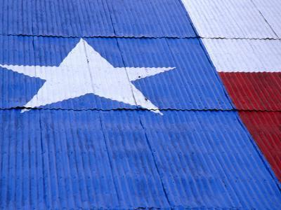 Texas Flag Painted on Barn Roof, Austin, Texas