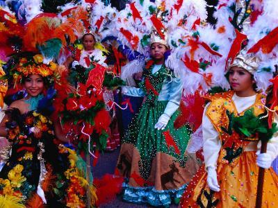 Folk Dance Group Preparing for Parade at Annual Feria de la Chinita, Zulia, Venezuela