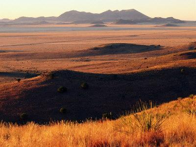 Davis Mountains State Park and Marfa Plain from Park Scenic Drive, Marfa, Texas