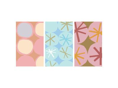 Stars and Circles Triptych