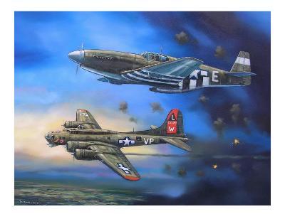B-17 and P-51 Mustang