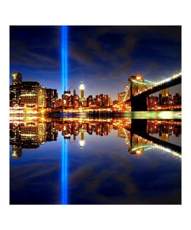 911 Tribute in Lights, NYC