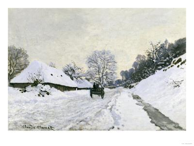 Route in the Snow near Honfleur, c.1867