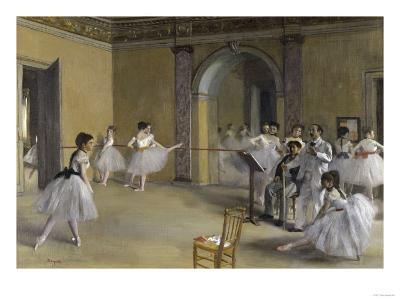 Ballet Room at the Opera in Rue le Peletier, c.1872