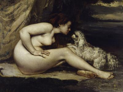 Nude with Dog, c.1861