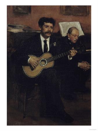 Lorenzo Pagans and Auguste Degas, c.1871