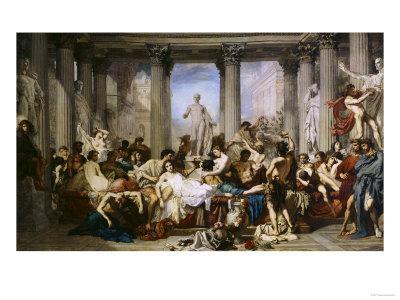 The Romans of Decadence, c.1847