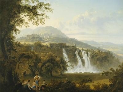 View of the Villa of Marcenas and Falls of Anio