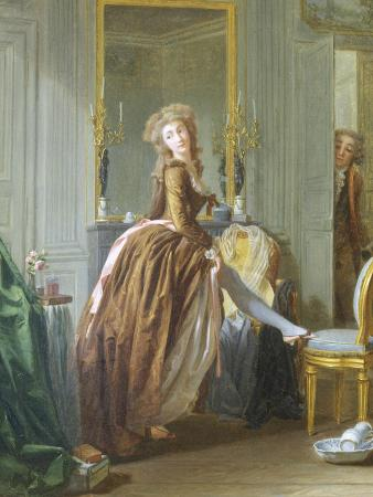 Elegant Woman at Her Toilette