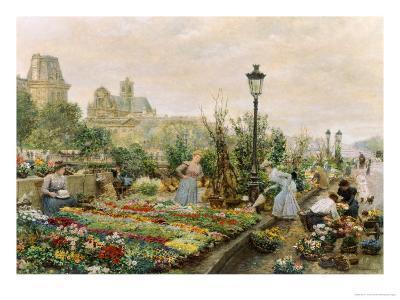 The Quai aux Fleurs and the Hotel de Ville