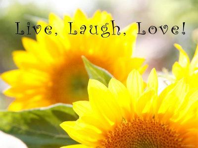 Live Laugh Love: Sunflower