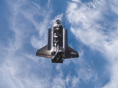 Space Shuttle Edeavour as Seen from the International Space Station, August 10, 2007