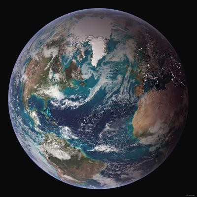 Planet Earth Western Hemisphere, NASA Satellite Composite