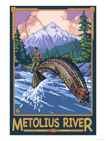 Metolius River Fisherman, Oregon