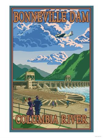 Bonneville Dam, Columbia River, Oregon