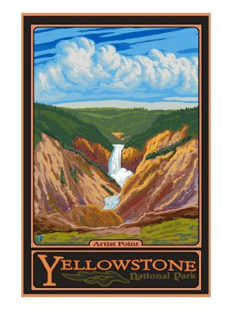 Artist Point, Yellowstone National Park, Wyoming