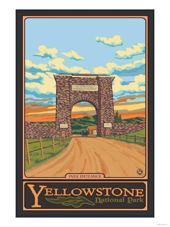 Park Entrance Arch, Yellowstone National Park, Wyoming